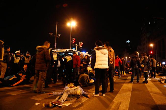 Массовая гибель людей во время празднования Нового года на набережной Вайтань в Шанхае, 31 декабря, 2014 год. Фото: ChinaFotoPress/Getty Images