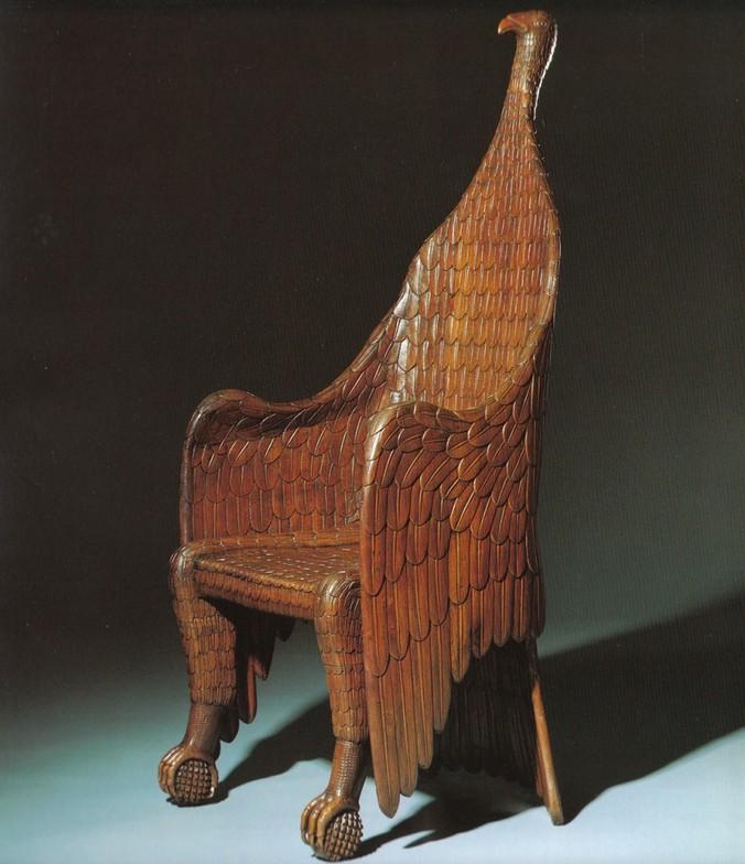 Делают и такие уникальные кресла на заказ. Фото: http://carltonhobbsprovenance.com/seating/armchair-origin-uncertain-circa-1840