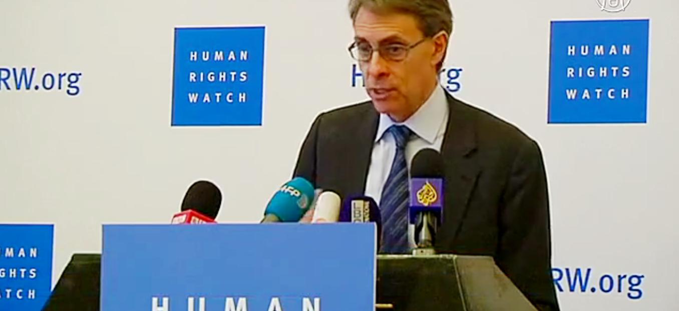 HRW: ежегодный доклад о нарушениях прав человека. Скриншот видео