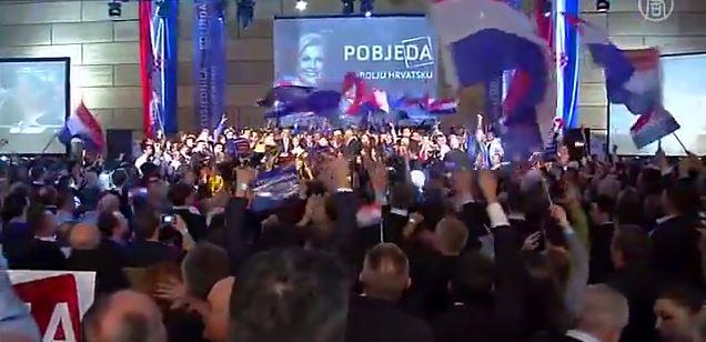 Президентом Хорватии впервые станет женщина (видео)
