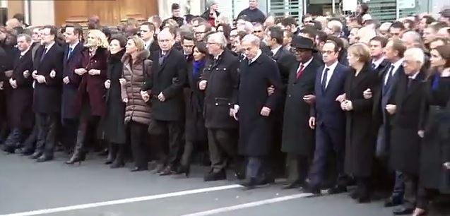 Миллионы человек вышли в мире на марш солидарности (видео)