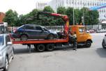 Москва, Каширское шоссе, эвакуатор, погрузка автомобиля
