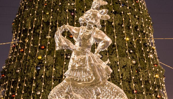 Новогодняя ледовая сказка в Красноярске