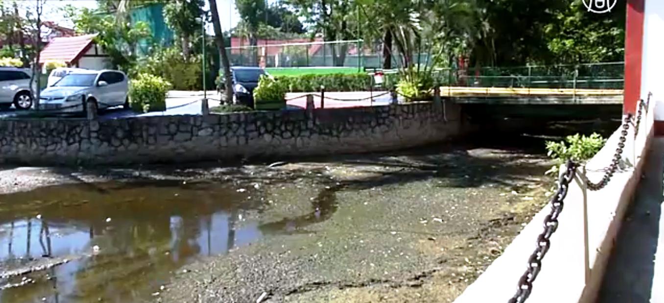 Обмеление лагуны в Рио угрожает Олимпиаде-2016. Скриншот видео
