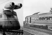 Реактивные поезда СССР (слева) и США (справа). Фото: http://ballyarn.ru/transport/turbojet-train/