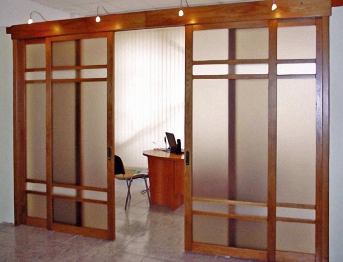 Межкомнатные перегородки для офисов и жилых помещений. Фото: razdvishnie-dveri.k-oo.ru