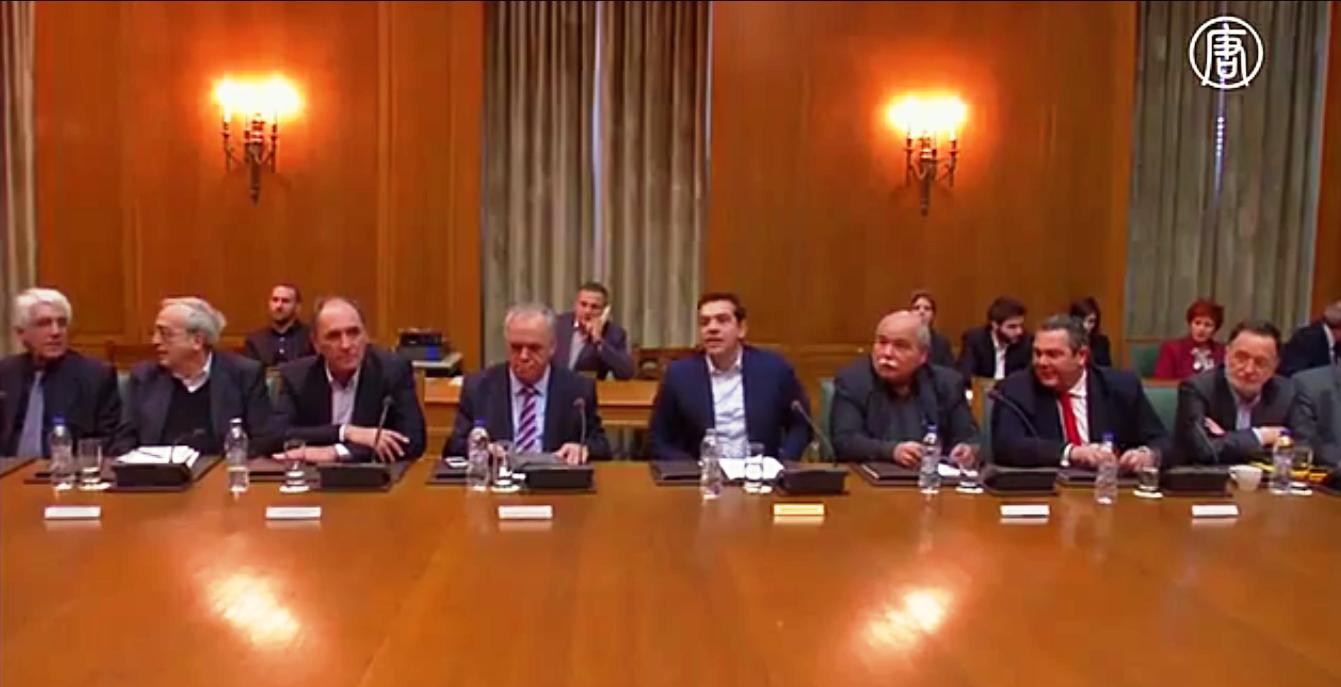 Программу финансовой помощи для Греции продлили на четыре месяца. Скриншот видео: Телеканал NTD