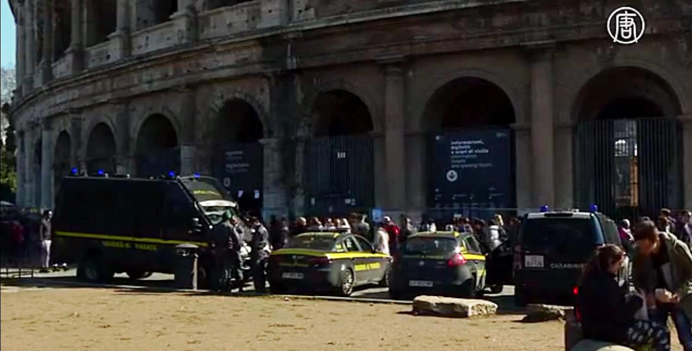 Италия усиливает меры безопасности на улицах страны. Скриншот видео: Телеканал NTD