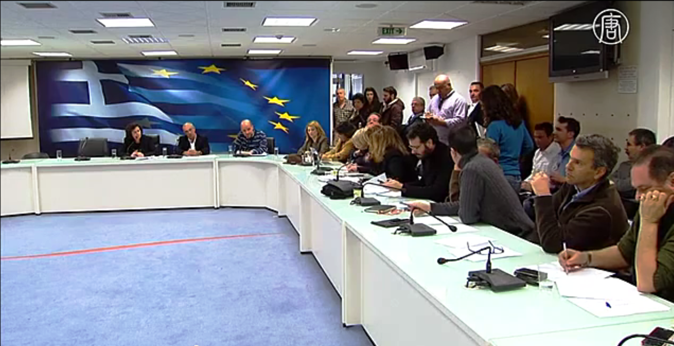 Власти Греции объявили о намерении реформировать систему налогообложения.  Скриншот видео: Телеканал NTD
