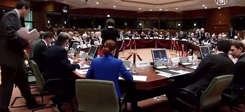 Вступление санкций в силу главы внешнеполитических ведомств отложили до 16 февраля. Скриншот видео