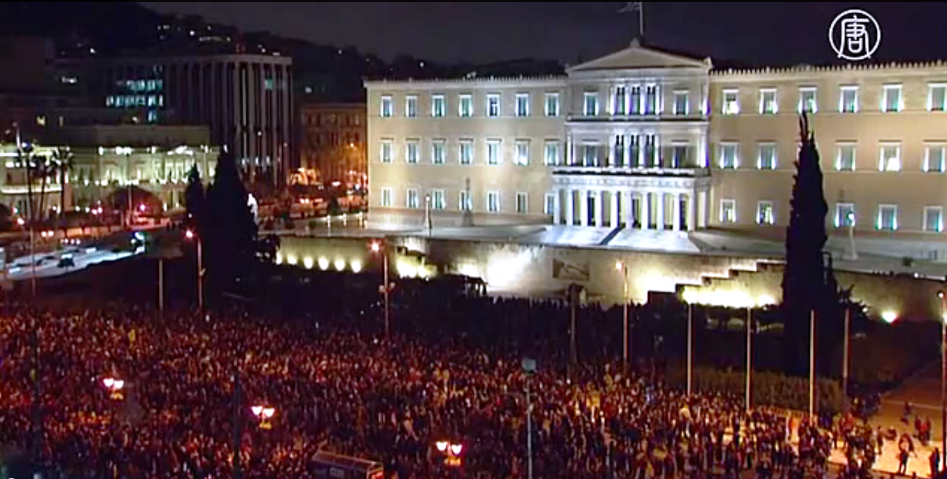 В Афинах требуют от ЕС пересмотреть долг Греции. Скриншот видео