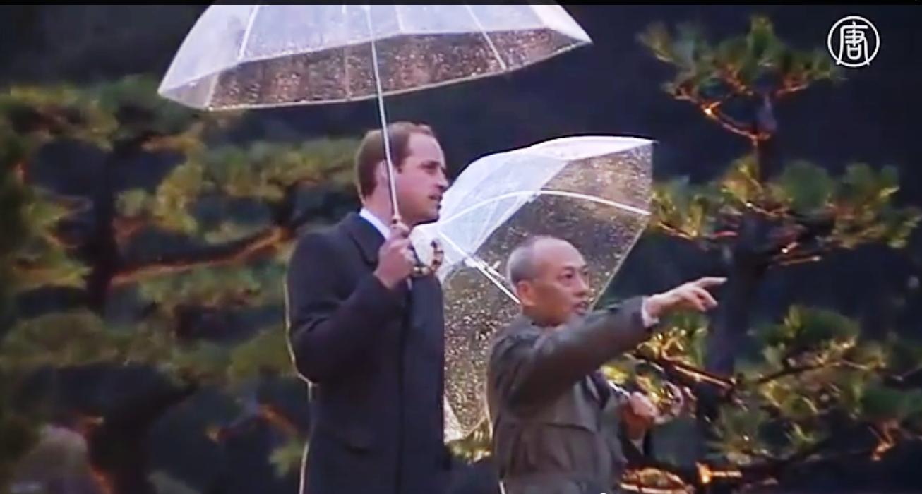 Принц также прогулялся по древнему саду. Скриншот видео: Телеканал NTD