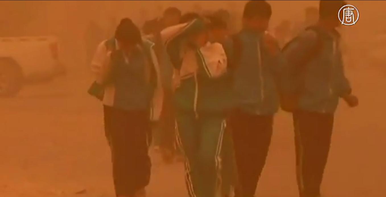 Такой природный феномен, как пыльные бури, периодически наблюдается во всех странах Восточной Азии. Скриншот видео: Телеканал NTD