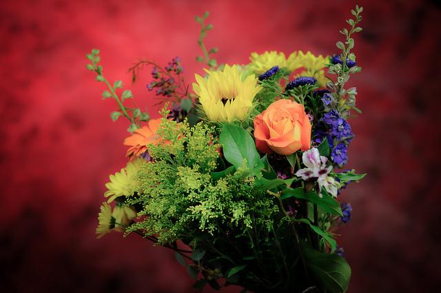 День Святого Валентина, США, цветы, муж
