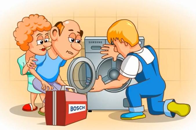 Ремонт стиральной машины. Фото: moscow-master.ru