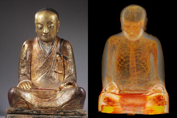статуя Будды, мумия