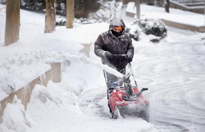 Снежная буря в США. Фото: Scott Olson/Getty Images
