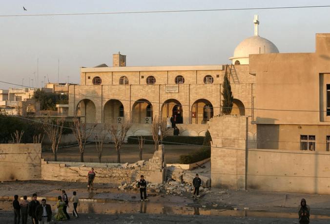 Монастырь в иракском городе Мосул. Фото: MUJAHED MOHAMMED/AFP/Getty Images