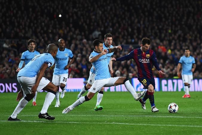 Лионель Месси во время второго матча 1/8 Лиги чемпионов УЕФА между «Барселоной» и «Манчестер Сити», Барселона, Испания 18 марта, 2015 год. Фото David Ramos / Getty Images