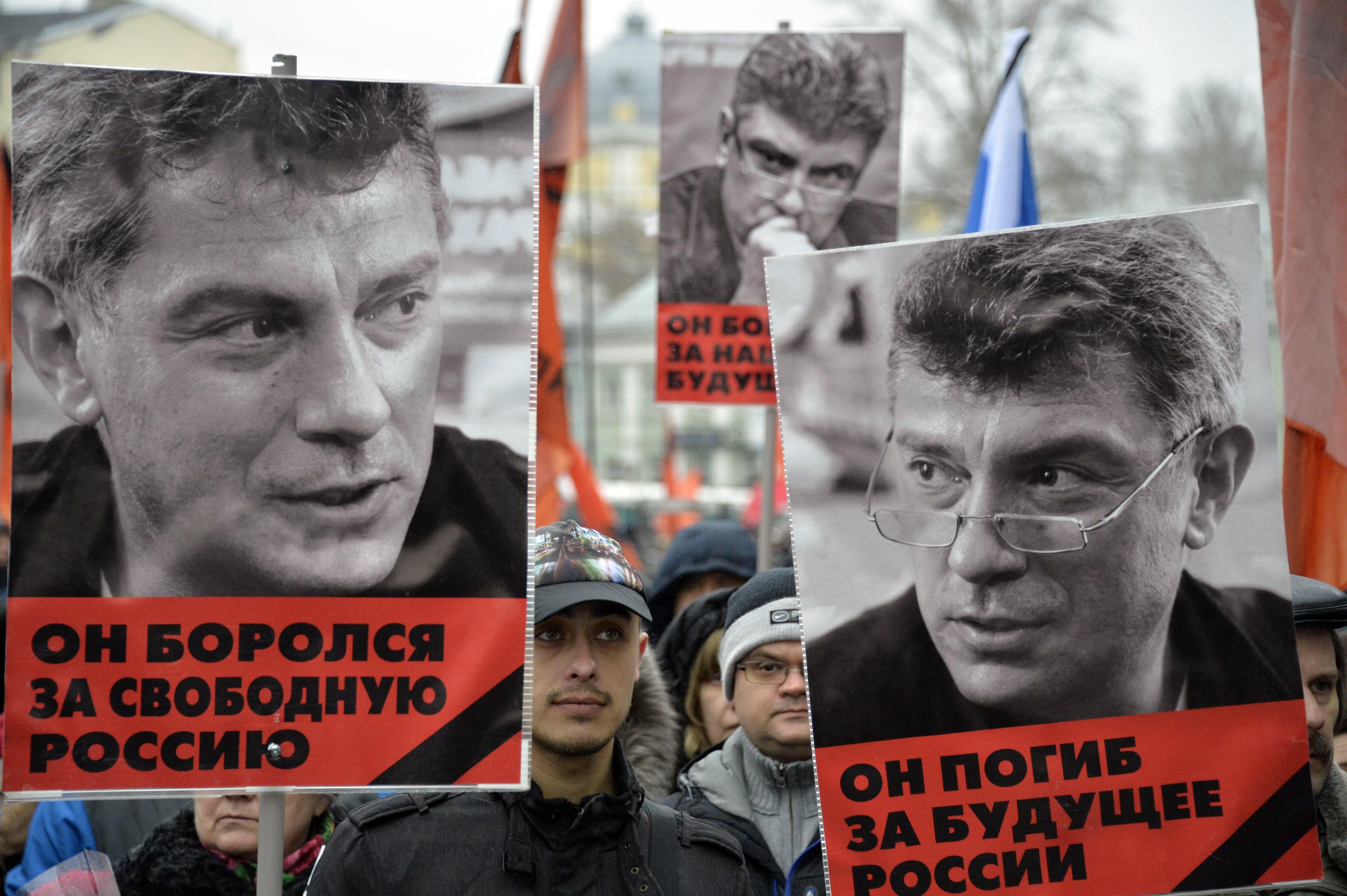 Траурная акция, Москва, Борис Немцов
