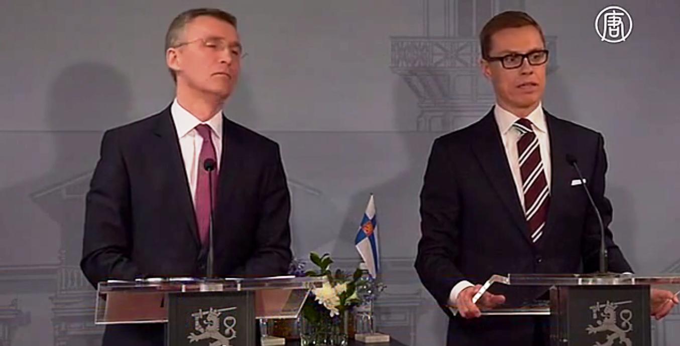Eсли Финляндия будет пытаться вступить в НАТО, то для этого потребуется согласие общественности. Скриншот видео: Телеканал NTD