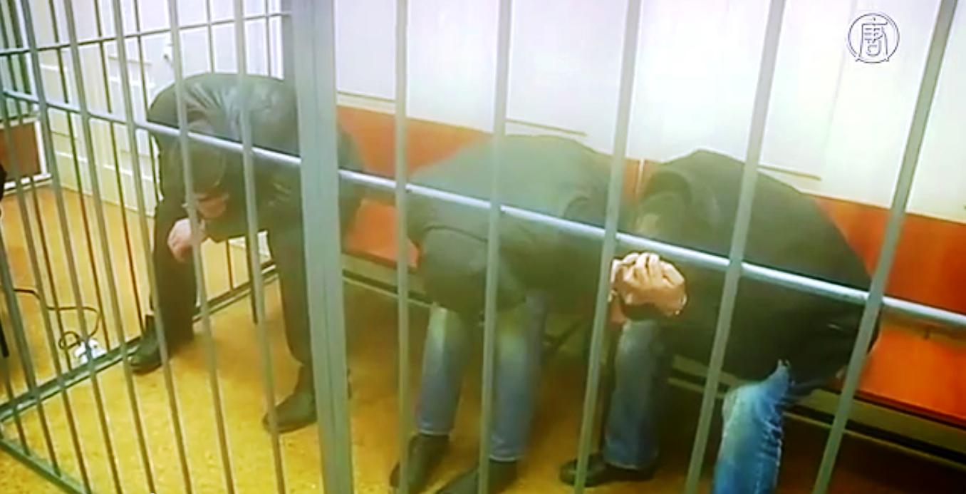 Подозреваемые в убийстве Немцова остались под арестом. Скриншот видео: Телеканал NTD