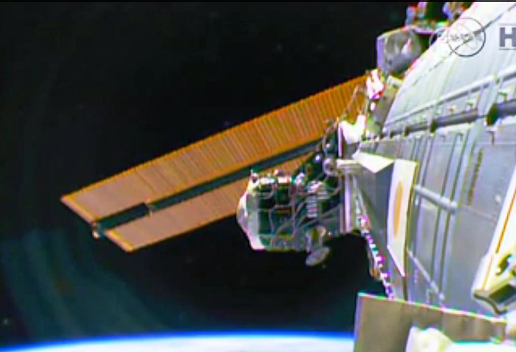 Международный экипаж вернулся с МКС. Скриншот видео: Телеканал NTD