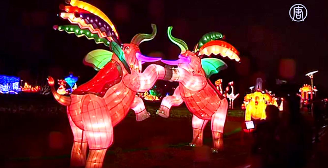 Праздник фонарей ежегодно отмечают на 15-й день первого месяца по лунному календарю. Скриншот видео: Телеканал NTD