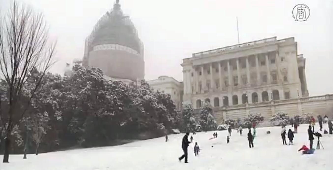 Начавшийся в четверг снегопад охватил несколько американских штатов. Скриншот видео: Телеканал NTD