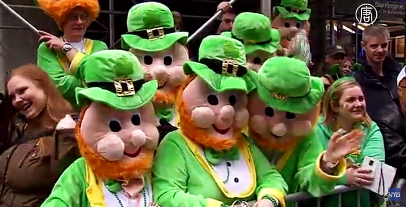 Праздник посвящён дню смерти Святого Патрика – небесного покровителя Ирландии.  Скриншот видео: Телеканал NTD
