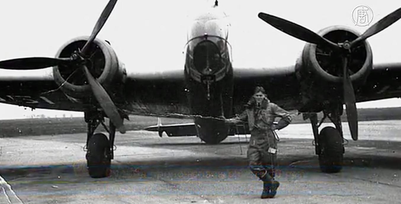 Джон Томпсон, летавший во времена Второй мировой войны на бомбардировщике «Галифакс». Скриншот видео: Телеканал NTD