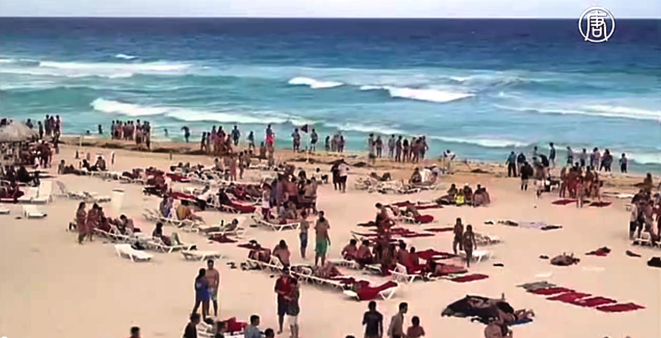 Пляжи Мексики. Скриншот видео: Телеканал NTD