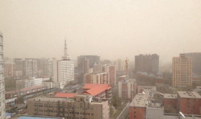 На Пекин обрушилась сильнейшая в этом году песчаная буря