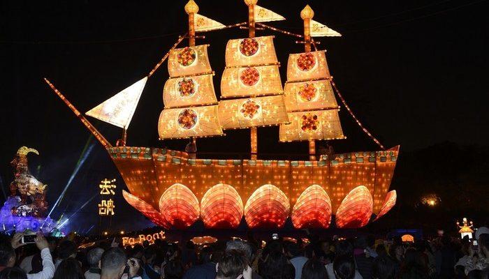 Фестиваль фонарей прошёл в Тайване