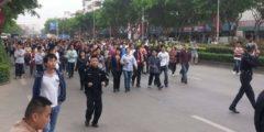 Забастовка рабочих прошла на юге Китая