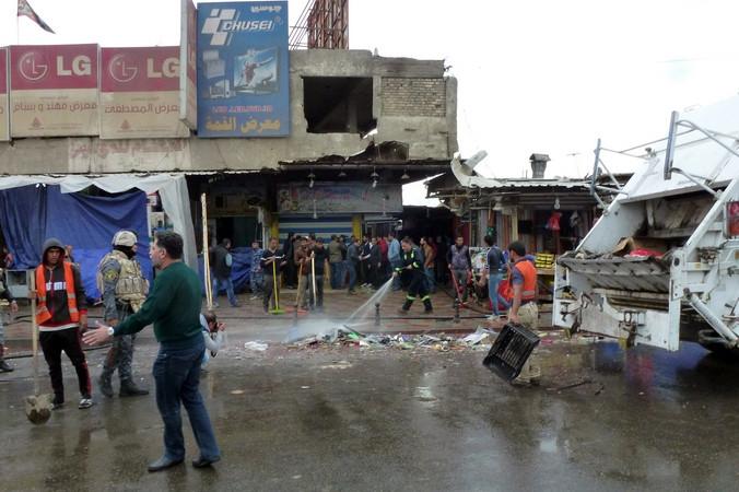 Теракт на рынке Багдада. Фото: SABAH ARAR/AFP/Getty Images