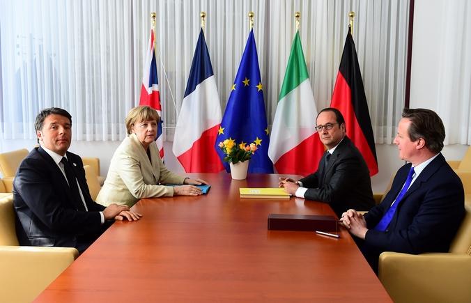 Саммит лидеров Евросоюза по вопросу нелегальной миграции, Брюссель, 23 апреля, 2015 год. Фото: EMMANUEL DUNAND/AFP/Getty Images
