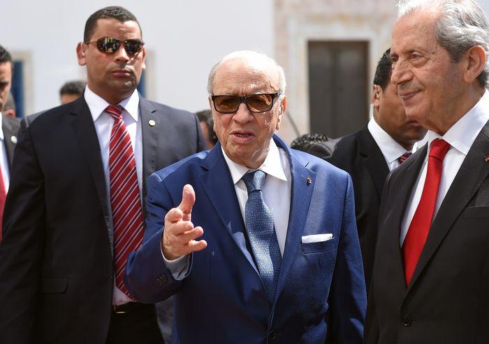 Каид Эс-Себси, президент Туниса. Фото: EMMANUEL DUNAND/AFP/Getty Images