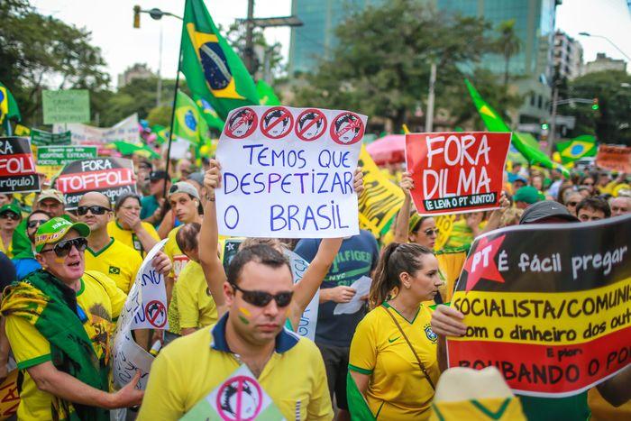 Протесты в Бразилии. Фото: JEFFERSON BERNARDES/AFP/Getty Images