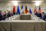 Переговоры «шестёрки» и Ирана по ядерной программе Ирана, Лозанна, Швейцария, 29 марта, 2015 год. Фото: FABRICE COFFRINI/AFP/Getty Images
