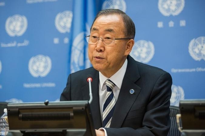Генеральный секретарь ООН Пан Ги Мун. Фото: Andrew Burton/Getty Images