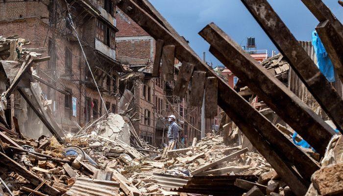 В Непале произошло новое мощное землетрясение (видео)