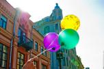 Москва, театральных флешмоб, спектакль «Стулья», Всемирный день смеха, Дом актёра, Старый Арбат