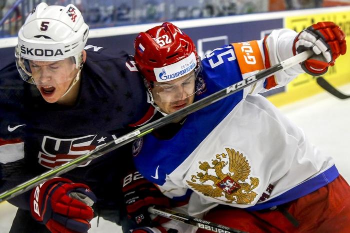 Матч группового этапа между сборными России и США на чемпионате мира-2015 по хоккею, Острава, Чехословакия, 4 мая, 2015 год. Фото: Matej Divizna/Getty Images