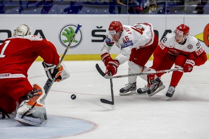 Матч группового турнира между командами Дании и Беларуси на чемпионате мира по хоккею, 5 мая, 2015 год. Фото: Matej Divizna/Getty Images