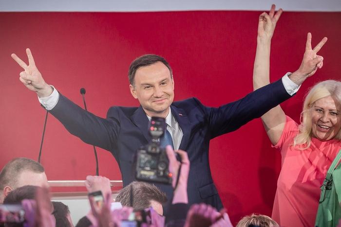 Победивший на выборах кандидат в президенты Польши Анджей Дуда. Фото: WOJTEK RADWANSKI/AFP/Getty Images