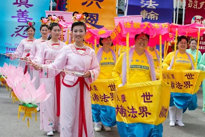 Чикаго, США. Празднование Всемирного Дня Фалунь Дафа (Фалуньгун). Май 2015 года. Фото: minghui.org
