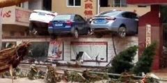 Мощное наводнение произошло на юге Китая