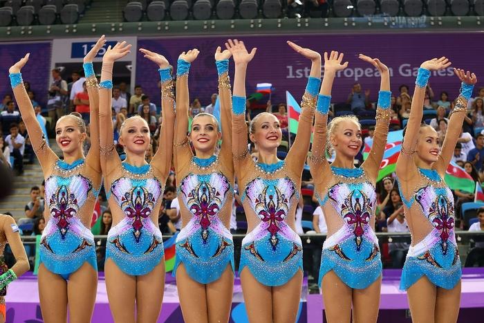 Сборная РФ по художественной гимнастике. Фото: Robert Prezioso/Getty Images for BEGOC