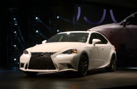 The Lexus is350 f Sport is introduced at the 2013 North American International Auto Show in Detroit, Michigan, January 14, 2013. AFP PHOTO/Stan HONDA        (Photo credit should read STAN HONDA/AFP/Getty Images)